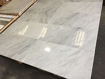 Marble Tiles, Bianco Select White Marble Floor & Wall Tile, 305x610x10mm 24m2LOT