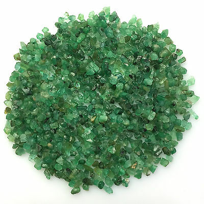 110Ct Scoop Natural Emerald Green Rough Gemstone Loose Mineral Lot Raw Wholesale