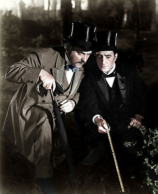 Basil Rathbone and Nigel Bruce photo - D283 - The Adventures of Sherlock Holmes