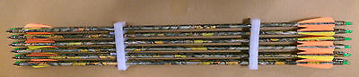 "12 X 30"" Carbon Camo Arrows For Compound Or Recurve Bow Target Archery New"