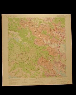 San Rafael Mill Valley California Pacific vintage 1980 USGS Topographical chart