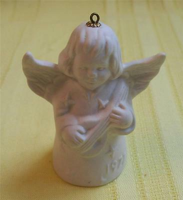 1977 Goebel W.germany Angel Musician Bell Christmas Ornament