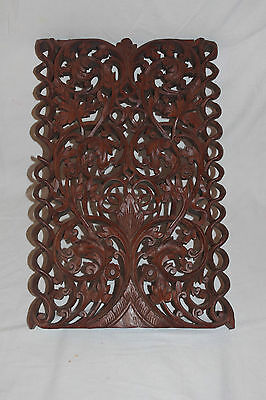 Rare Amazing Quality Carved Wood Antique Pannel Open Barley Twist code 3156