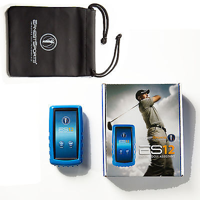 Ernest ES12 Blue Digital Golf Assistant Portable Launch Monitor Swing Speed