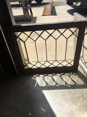 Sg 822 Three Available Price Separate Antique All Beveled Glass Window Geometric