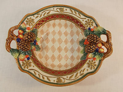 Fitz and Floyd Jolly Ole St. Nick Small Bowl 19/38