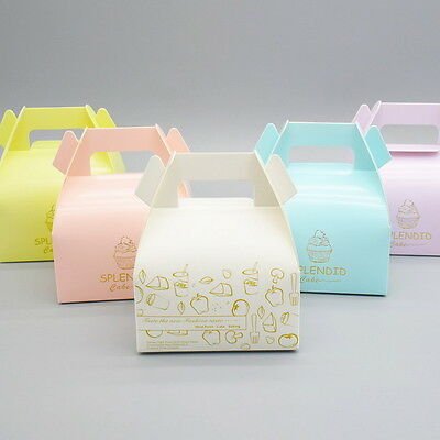 10pcs Colorful Box Wedding Party Candy Cake Gift Boxes Gold Splendid