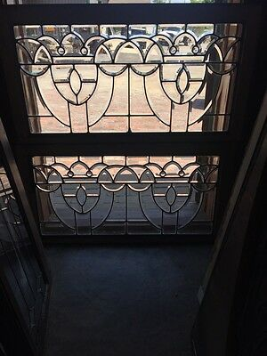 Sg 825 2Available Price Separate Antique Beveled Glass Transom Window W Jewel