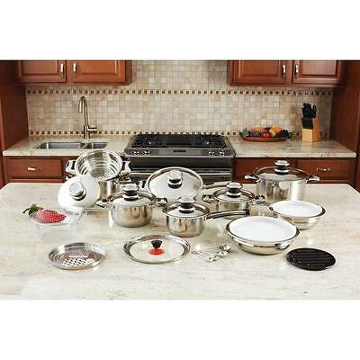 Chef's Secret® 28pc 12-Element High Quality Stainless Steel Cookware Set