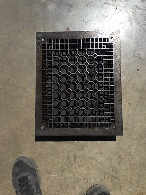 Tc 125 Antique Honeycomb Grate13 And Three-Quarter Inch By 16 7/8""
