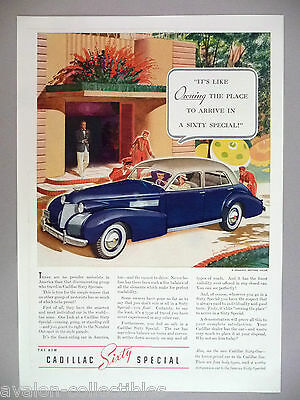 Cadillac Sixty Special PRINT AD - 1939