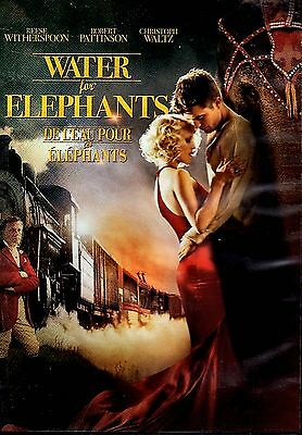 USED DVD // WATER FOR ELEPHANTS // Reese Witherspoon, Robert Pattinson, Christop
