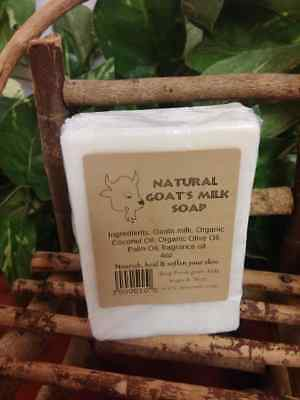 4oz HANDMADE GOATS MILK SOAP BAR ORGANIC INGREDIENTS SCENTED OR UNSCENTED
