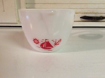 McKee Milk Glass Sailboat 2 Cup Measuring Cup