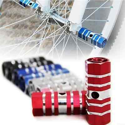 2X Pair Axle Pedal Alloy Foot Stunt Pegs Cylinder Non-Slip For Bike Cycling
