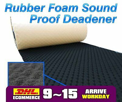 1M x1M Acoustic Sound Noise Deadener Proofing Mat Foam Rubber Car Muffer Shield