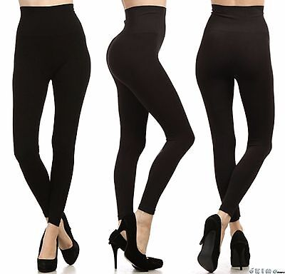 Tummy Control High Waist Warm Winter Fleece Full Length Legging Stretch Pants