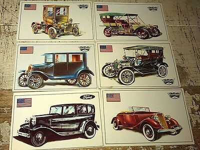 FORD T , A , K , V8  - Famous Cars by Top Sellers Ltd UK Trade Cards RARE