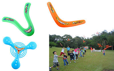 4X 4Shapes Outdoor Returning Throwback Kids ChildrenToys Colorful Boomerang