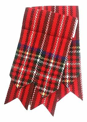Mens Kilt Hose Sock Flashes Royal Stewart Tartan/Scottish Kilt Flashes Royal Ste