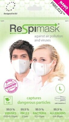 NEW Face Mask 3 pack protects from Viruses Dust Mould Allergens Flu Cold Smog