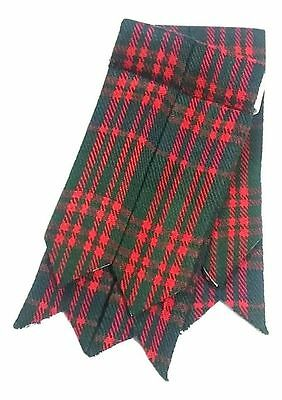 Men's Scottish Kilt Flashes MacDonald Tartan/Scottish Kilt Hose Sock Flashes/ L