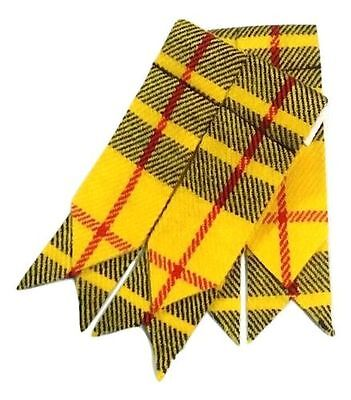 Men's Scottish Kilt Hose Sock Flashes Macleod Of Lewis Tartan/Highland Flashes