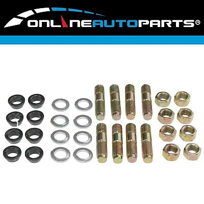 8pack Swivel Hub Knuckle Stud Cone Washer Nut Kit Landcruiser 40 60 70 80 Series