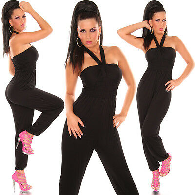 Sexy  KouCla Neckholder  Overall  XS S M 34 36 38 Jumpsuit Catsuit Party # AVO60