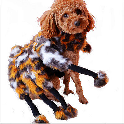 Halloween Costume for Pet Funny Spider Party Dog  Costume Suit  S M L