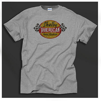 Shelby Speed machines Cars Ford V8 Retro Americana Grey T-Shirt Ideal Gift