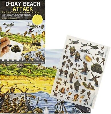 D-Day Beach Attack Rub Down Transfer World War Two Activity Pack