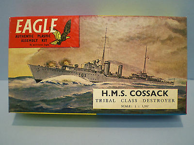 H.M.S. COSSACK British Tribal Class ship by EAGLEWALL 1/1200 scale Series # 2
