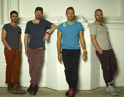 Coldplay UNSIGNED photo - D490 - Chris Martin, Guy Berryman & Jonny Buckland