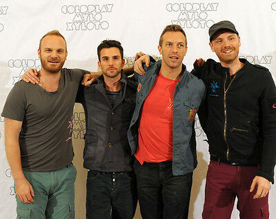 Coldplay UNSIGNED photo - D492 - Chris Martin, Guy Berryman & Will Champion