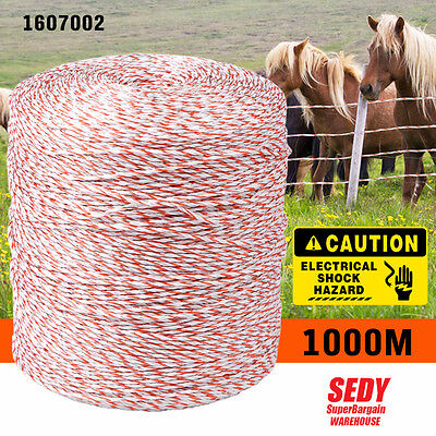 1000M Electric Fence Polywire Electric Polyrope Rolling Poly Wire Rope Insulator