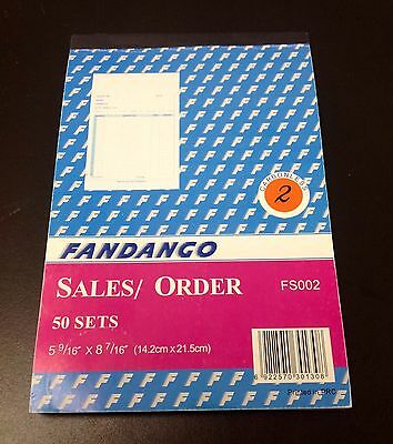 "Sales Order Book / Receipt Book ~ 50 Duplicate Forms ~ Carbonless,  5.5""x8.5"""