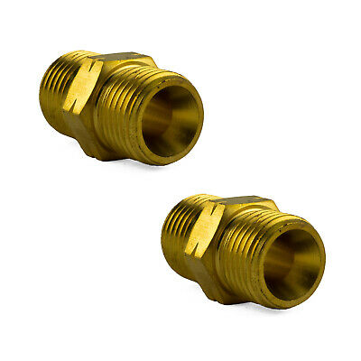 2 x Fuel Hose Joiners WB35  - Oxy - Acetylene - LPG Gas