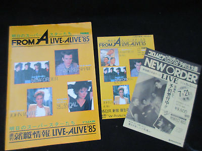 From A Live Alive Japan Tour Book w DBL Flyer New Order Joy Division Nik Kershaw