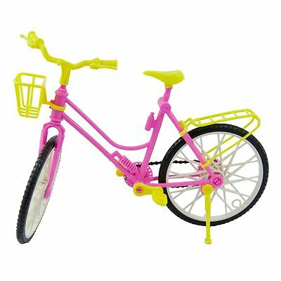 Detachable Plastic Bike Bicycle With Basket For Barbie Doll Accessories(random )