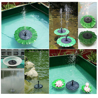 Liqoo Solar Powered Water Pump Lotus Leaf / Floating Brushless Panel Fountain