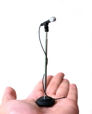 Adjustable height Miniature Microphone to compliment Rock Star statue and stage
