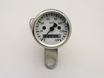 Speedo 48mm White Polished Body - Cafe Racer, Bobber, Chopper, Tracker, Custom