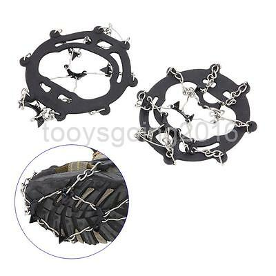 Anti Slip 8 Teeth Shoe Boot Ice Cleats Spikes Snow Grippers Chain Crampons