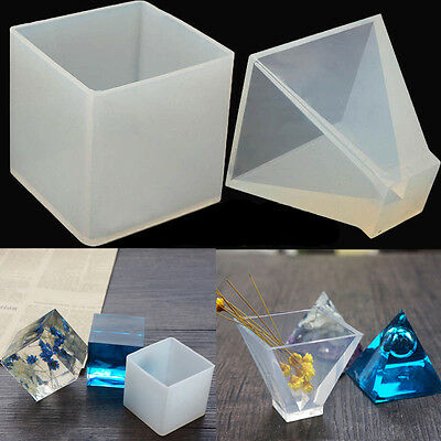 Resin Silicone Pendant Jewelry Mold Pyramid Ornaments Handmade Making Tool Mould
