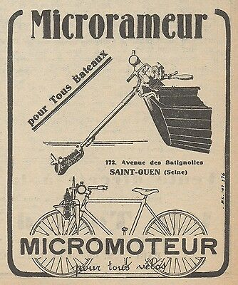 Z9066 MICRORAMEUR & MICROMOTEUR -  Pubblicità d'epoca - 1928 Old advertising