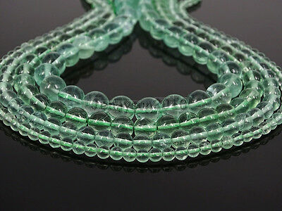 Grade A Natural Green Fluorite Gemstone Round Beads 15.5'' 4mm 6mm 8mm 10mm 12mm