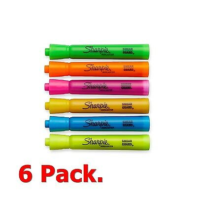 Accent Tank-Style Highlighter Markers Pen 6 Colors of Pack Accent Fluorescent