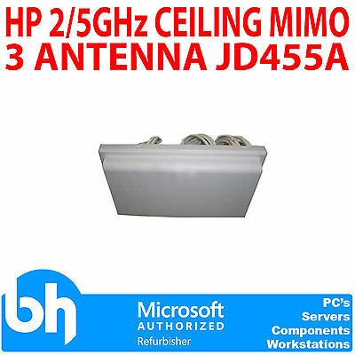 HP 2/5GHz Ceiling MIMO 3 Antenna JD455A Gain: 2.5/4dBi Omnidirectional