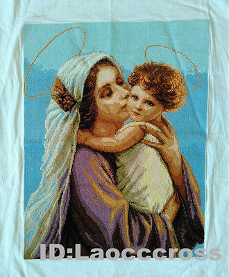 "2016 NEW finished completed Cross stitch""ANGEL and MOTHER""home wall decor"